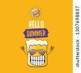 vector cartoon funky beer glass ...   Shutterstock .eps vector #1307698837
