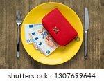 savings consumer concept.red... | Shutterstock . vector #1307699644