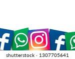 london  uk   february 8th 2019  ... | Shutterstock . vector #1307705641