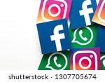london  uk   february 8th 2019  ... | Shutterstock . vector #1307705674