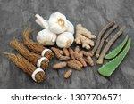 adaptogen food selection with...   Shutterstock . vector #1307706571