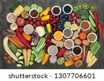 large super health food...   Shutterstock . vector #1307706601