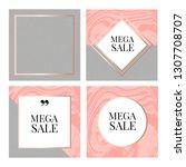 templates frame square fluide... | Shutterstock .eps vector #1307708707