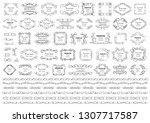 calligraphic design elements .... | Shutterstock .eps vector #1307717587