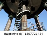 spiral staircase to the spire   ... | Shutterstock . vector #1307721484