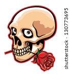 skull and rose | Shutterstock .eps vector #130773695
