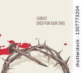 vector religious illustration...   Shutterstock .eps vector #1307773204