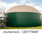 industrial biogas plant  | Shutterstock . vector #1307778487