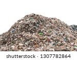 Large Garbage Pile Isolated On...