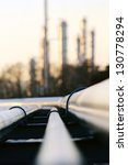 pipe going to the refinery... | Shutterstock . vector #130778294