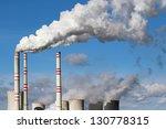 white danger smoke from coal... | Shutterstock . vector #130778315