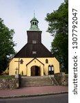 catholic church in leba  poland. | Shutterstock . vector #1307792047