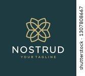 flower logo design concept.... | Shutterstock .eps vector #1307808667
