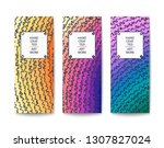 abstract banner with a handmade ... | Shutterstock .eps vector #1307827024