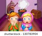 illustration of the shocked... | Shutterstock .eps vector #130783904