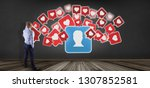 view of a businessman in front... | Shutterstock . vector #1307852581