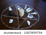 meditation grid kit. quartz... | Shutterstock . vector #1307859754