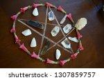 meditation grid kit. quartz... | Shutterstock . vector #1307859757