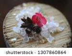 healing crystals  clear quartz  ... | Shutterstock . vector #1307860864