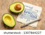 keto diet word cloud   ... | Shutterstock . vector #1307864227