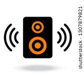 stereo speaker icon. vector... | Shutterstock .eps vector #1307879821