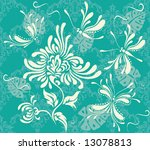 seamless background with flower ... | Shutterstock .eps vector #13078813