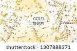 modern christmas tinsel...   Shutterstock .eps vector #1307888371