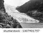 the serrano glacier inside... | Shutterstock . vector #1307901757