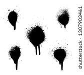 various spray paint graffiti... | Shutterstock .eps vector #1307903461