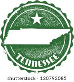Vintage Style Tennessee USA State Stamp - stock vector