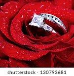 Set Of Wedding Rings In Red...