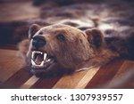 stuffed bear in old castle room ...   Shutterstock . vector #1307939557