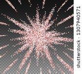 pink gold glitter luxury... | Shutterstock .eps vector #1307940571