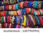 multi colored carpets are... | Shutterstock . vector #1307945941