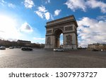 the triumphal arch is one of... | Shutterstock . vector #1307973727