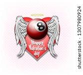 Happy Valentine Day. Billiard...