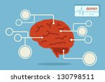 brain  vector | Shutterstock .eps vector #130798511