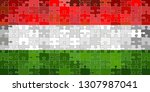 hungary flag made of puzzle...