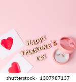 wedding ring and many hearts...   Shutterstock . vector #1307987137