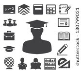 education icons set.... | Shutterstock .eps vector #130799021