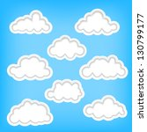 set of clouds as background... | Shutterstock .eps vector #130799177
