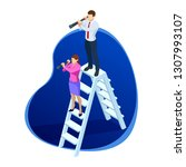 isometric successful... | Shutterstock .eps vector #1307993107