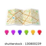 empty map icon with... | Shutterstock .eps vector #130800239