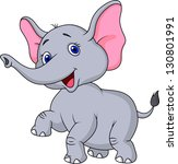 cute elephant cartoon | Shutterstock .eps vector #130801991