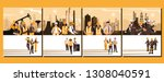 oil industry group scenes and... | Shutterstock .eps vector #1308040591