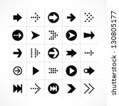 25 arrow sign icon set 01 ...