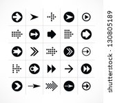 25 arrow sign icon set 02 ...