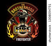 fire fighter brotherhood | Shutterstock .eps vector #1308054751