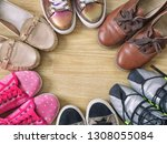 various women's shoes and... | Shutterstock . vector #1308055084
