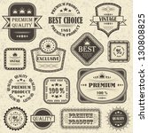 set of retro labels and icons | Shutterstock . vector #130808825